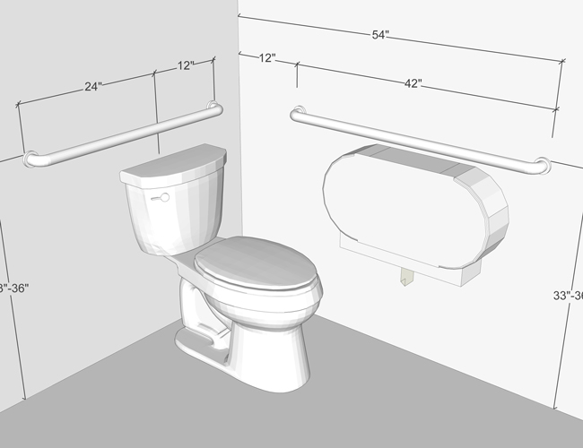 Grab bars at the toilet mounted in wrong location natso - Handicap bars for bathroom toilet ...