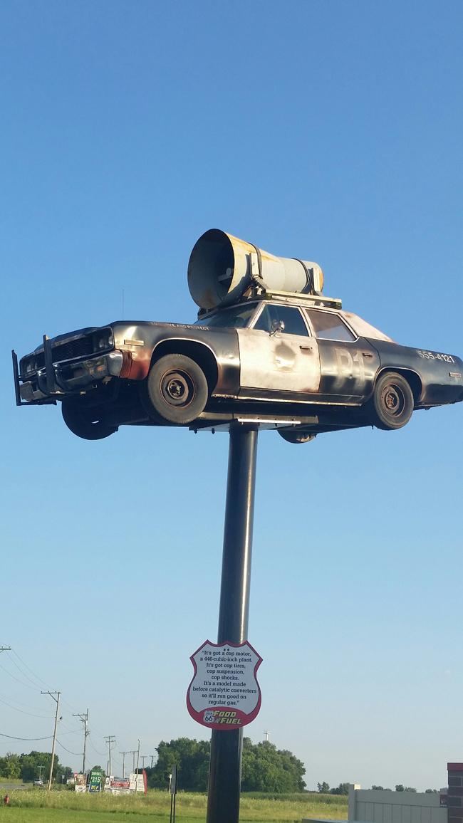Route 66 Food n Fuel Joliet-Replica of Cruiser from Blues Brothers MovieJI.jpg