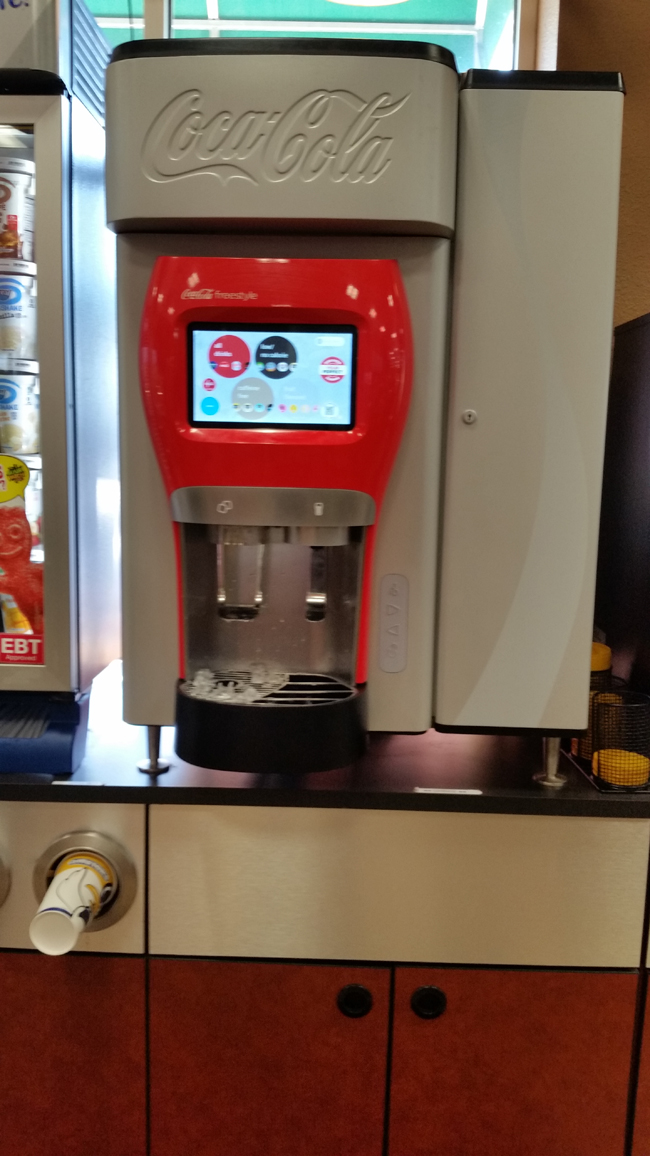 Golden Oil Coca-Cola Freestyle Fountain MachineJI.jpg